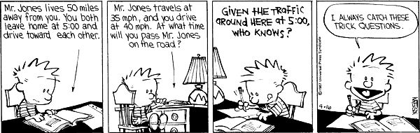 word problems from Bill Waterson